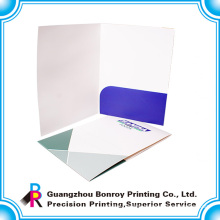 oem printing service plain file conference folder for company