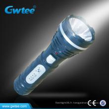 Lampe torche rechargeable portable à la vente chaude