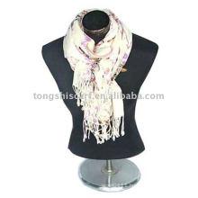 Fashion printed wool scarf and shawl