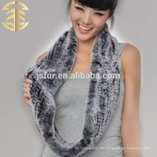 2015 neues Produkt Großhandel hotsale Winter Schal echtes rex Kaninchen strickte Pelz Schal