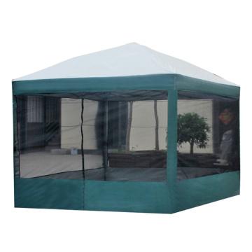 Tienda especial para fiestas en el jardín de verano con mosquitera