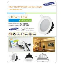 Reemplazar downlight halógeno de 120W18W Empotrar bajo perfil LED Downlight comercial de alto rendimiento (regulable)