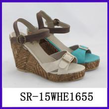 Las sandalias stappy de las mujeres acuñan la sandalia 2015 de la manera de la sandalia sandalias del alto talón