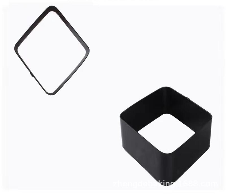 Black Mousse Ring Carbon Steel Cake Mold (4)