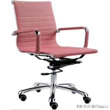 MID-Back Pink Fabric Lady Manager Chaises de bureau pivotantes (FOH-F15-B07)