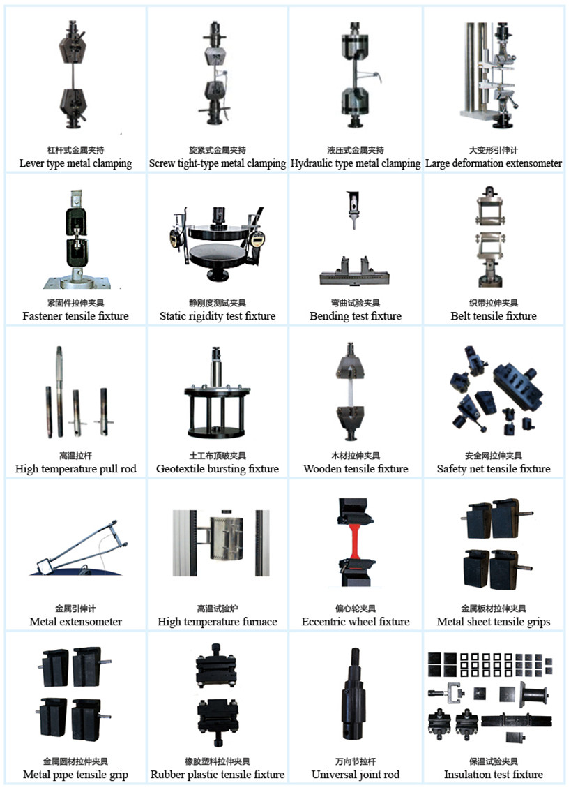 Tensile Fixtures For different materials