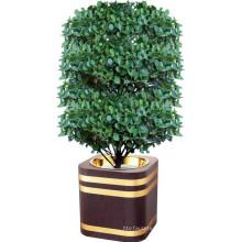 Pote de flor quadrada de madeira