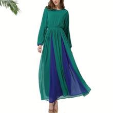 soft quality polyester islamic clothing dubai open black dubai crinkle dress