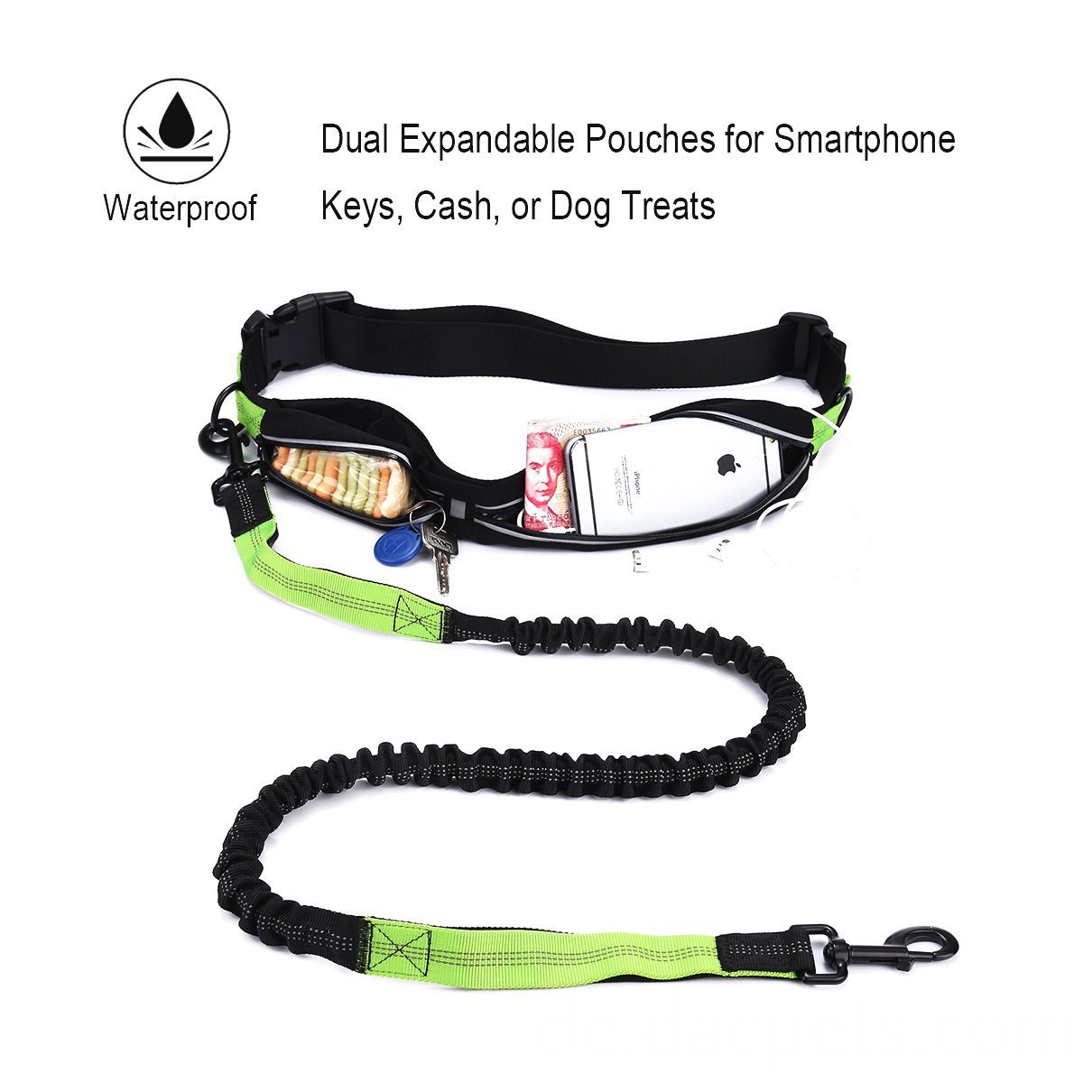 Dual Expandable Pounches Dog Leash