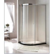 Hot vender vidro temperado simples chuveiro com porta nova pivô (C15)