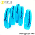 fashion ramah lingkungan silikon debossed wrist band