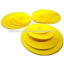 Conjunto de 4 tampa de sucção de silicone poupança de alimentos capa reutilizável / tampa de sucção de silicone / tampa de tampa de silicone pote
