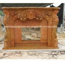 Chimenea de mármol modificada para requisitos particulares de la fábrica caliente de Salling con las flores (SY-MF215)