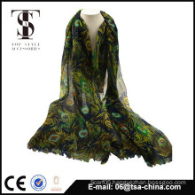 2014 hot selling scarf printed patterned scarf