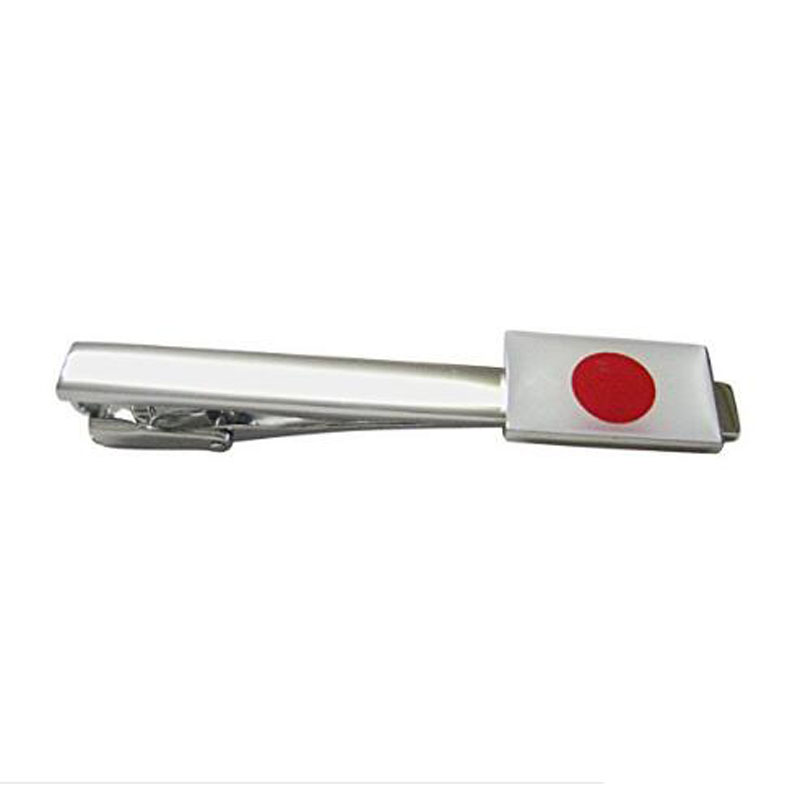 Japan Flag Square Tie Clip