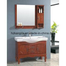 Gabinete de banheiro de madeira maciça / vaidade de banheiro de madeira maciça (KD-446)