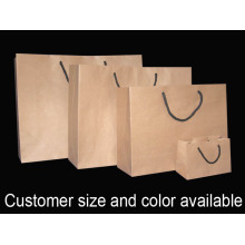 Rope Handle Brown Kraft Paper bag
