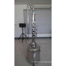 Leite de aço inoxidável pode caldeira com destilador de colunas / álcool / destilador de álcool em casa