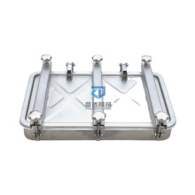 Sanitary square  manhole para tanques 760*470  stainless steel manway rectangular manhole cover