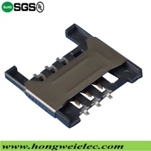 Push Push H=1.80mm 6p Socket SIM Card Connector
