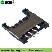 Push Push H =1.80 Mm 6p Socket SIM Card Connector