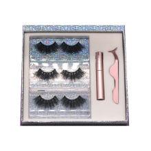 ARH Hitomi 3d Strip Mink Eyelashes Wholesale Lashes Mink Fluffy 25mm Magnetic Eyelashes with Eyeliner and tweezers
