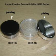 pot de poudre claire 20g avec Shiny Silver Cap