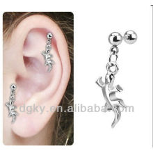 New Fashion Surgical Steel Dangle Cartilage Lizard Targus Body Jewelry