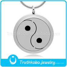 Yin-Yang thème pendentif collier fabriqué en Chine en gros diffuseur collier huile essentielle diffusant pendentif