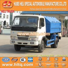 DONGFENG 5 cbm 4X2 95hp pulling arm garbage truck best price hot sale in China