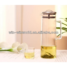 Handblown Insulated Pyrex Borosilicate Glass Water Jug Fruit Infusion Pitcher