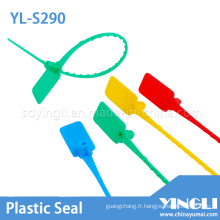Sceau en plastique de sécurité jetable avec code et logo (YL-S290)