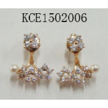 Stars Gem Earrings with Pearl Fashion Jewelry