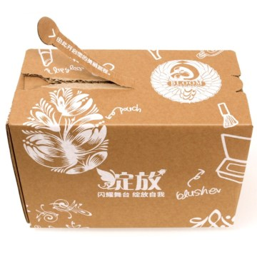 carton box with zipper tear strip