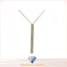 Frauen-Art- und Weiseschmucksachen 3A CZ 925 silberne Halskette (N6627)