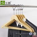 Cintre en bois de vêtements de coffre-fort anti-vol de garde-robe d'hôtel
