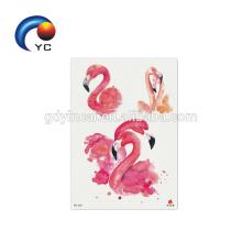 Animal Flamingo Fashion Body Art faux tatouage autocollant de tatouage temporaire imperméable à l'eau