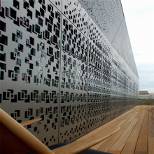 Panel Perforated Aluminium Arsitektur untuk Bangunan
