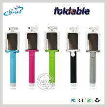 Monopod do telefone móvel, Monopod colorido de Selfie + auto câmera Obturador de Bluetooth, vara de Selfie com botão do obturador de Bluetooth