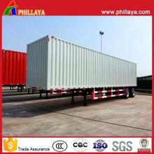 Cargo Transport Semi Truck Enclosed Strong Steel Box Trailer