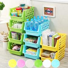 Premium Quality Stackable Plastic Baskets for Kitchen
