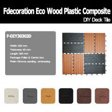 DIY composto plástico de madeira decking do revestimento de WPC