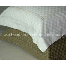 100% algodón, funda de almohada Matelasse PC-Checker