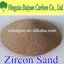 66% de arena refractaria de zirconio de alta pureza