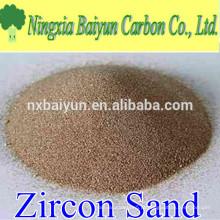 66% de areia de zircão refractário de alta pureza