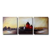 Pintura a óleo Handmade da paisagem da parede da venda quente