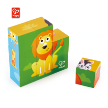 Hape Game Painting Building Block Magic Cube Custom Kids Wooden Puzzle For Zoo Animal