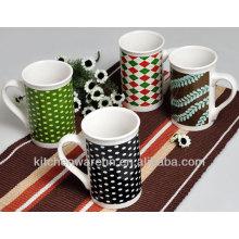 2013 Haonai ceramic striped mug with animal print