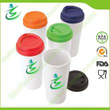 16 Unze PP Material Kaffeetasse mit Hülse, BPA-frei