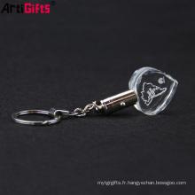 Porte-clés en cristal personnalisé personnalisé bon marché